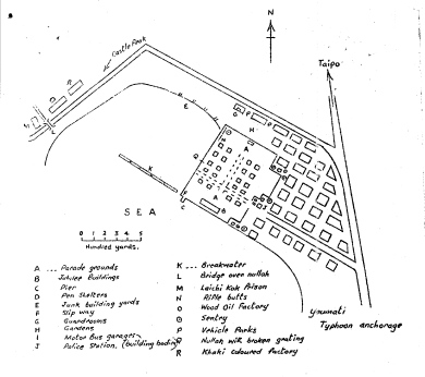 Map of Sham Shui Po camp, Hong Kong 1942
