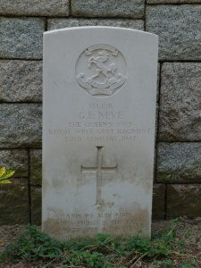 George Neve's grave at Stanley