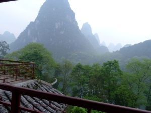 View from my room at Li River Retreat