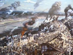 Wartime Chongqing painting