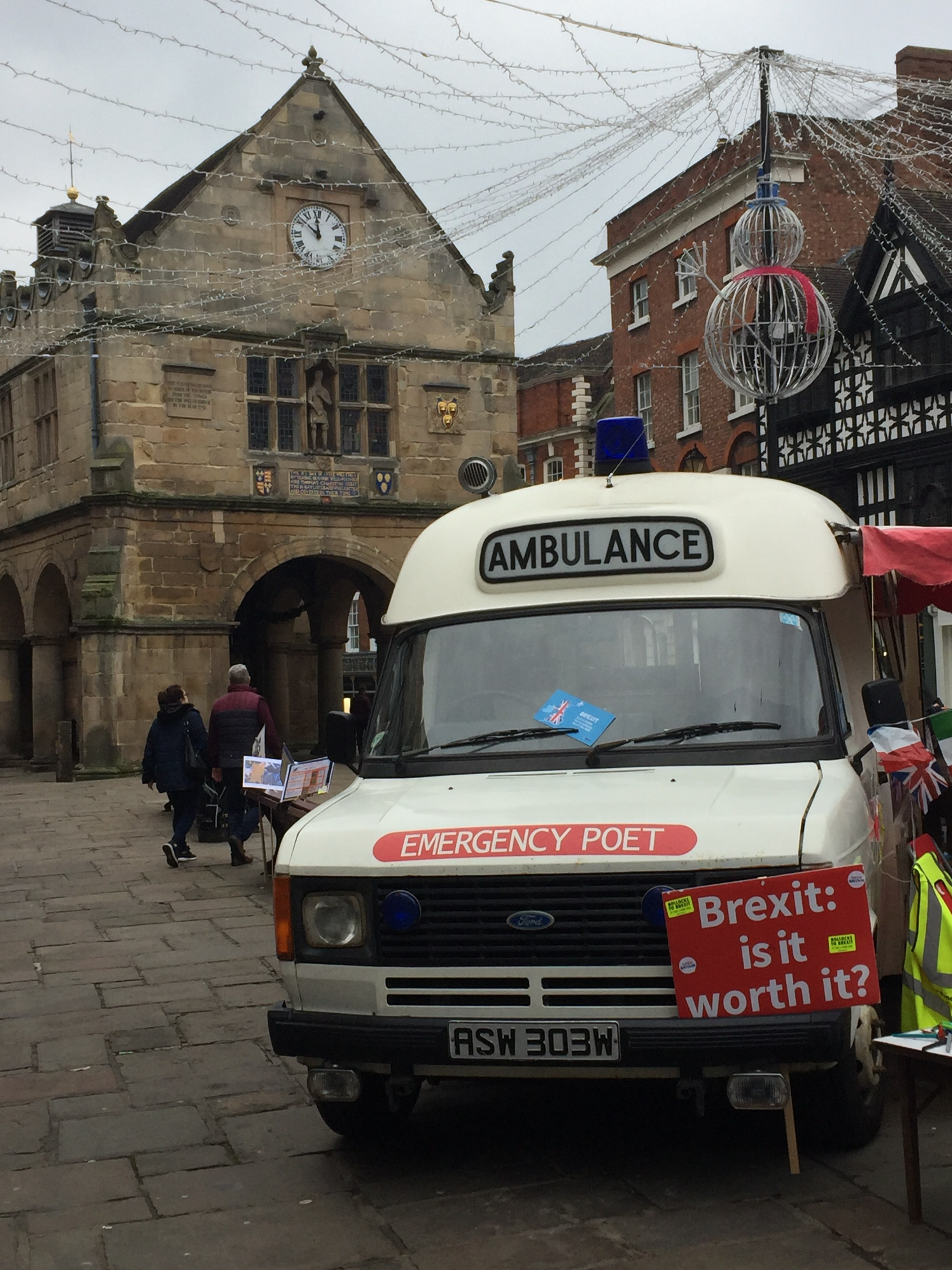 Emergency Poet, Shrewsbury Square