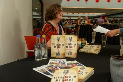 Mary Monro signing copies of Stranger In My Heart
